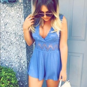 Boutique lace romper